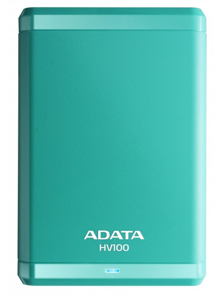 Внешний накопитель ADATA 1TB USB 3.0 HV100 корпус аквамарин