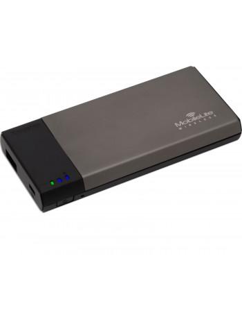 Картридер Kingston MobileLite Wireless SD/SDHC/SDXC/microSD + USB, беспроводной, с функцией зарядки (1810mAh) и маршрутизатора (WLAN), серый