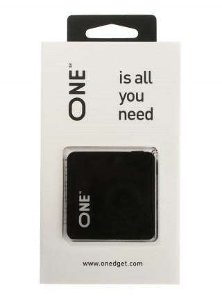 Антигравитационная наклейка ONE черная