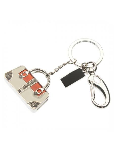 """8GB  USB-флешка Apexto """"Сумка серебро красно-белая"""""""
