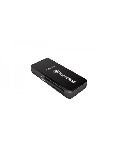 Картридер Transcend RDF5 SDHC/MicroSDHC, USB3.0, черный