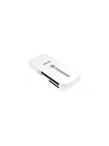 """Картридер Transcend RDP5 """"все-в-одном"""", USB2.0, белый"""