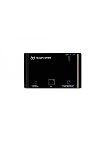 Картридер Transcend RDP8 CF/SD/MMC/miniSD/MicroSD/MS/MSD/M3, USB2.0, черный