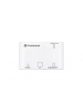 Картридер Transcend RDP8 CF/SD/MMC/miniSD/MicroSD/MS/MSD/M2, USB2.0, белый