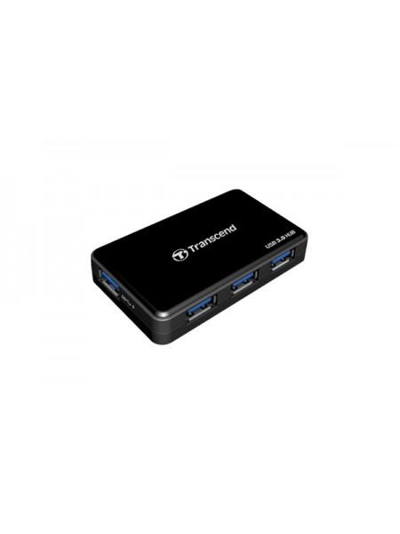 Универсальный хаб Transcend HUB3 на 4 порта с функцией ускоренной зарядки USB3.0