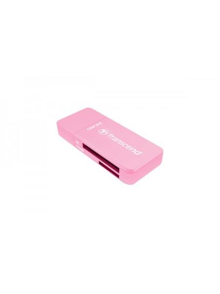 Картридер Transcend RDF5 для карт памяти SDHC/MicroSDHC USB3.0 розовый
