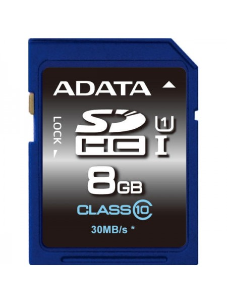 8GB Карта памяти ADATA SDHC